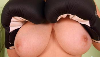 Busty Ellen naked boxing