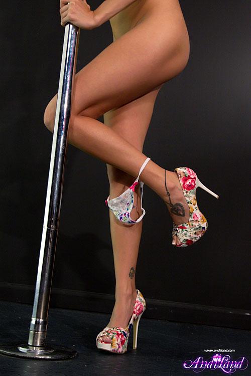 Fat girl on a pole