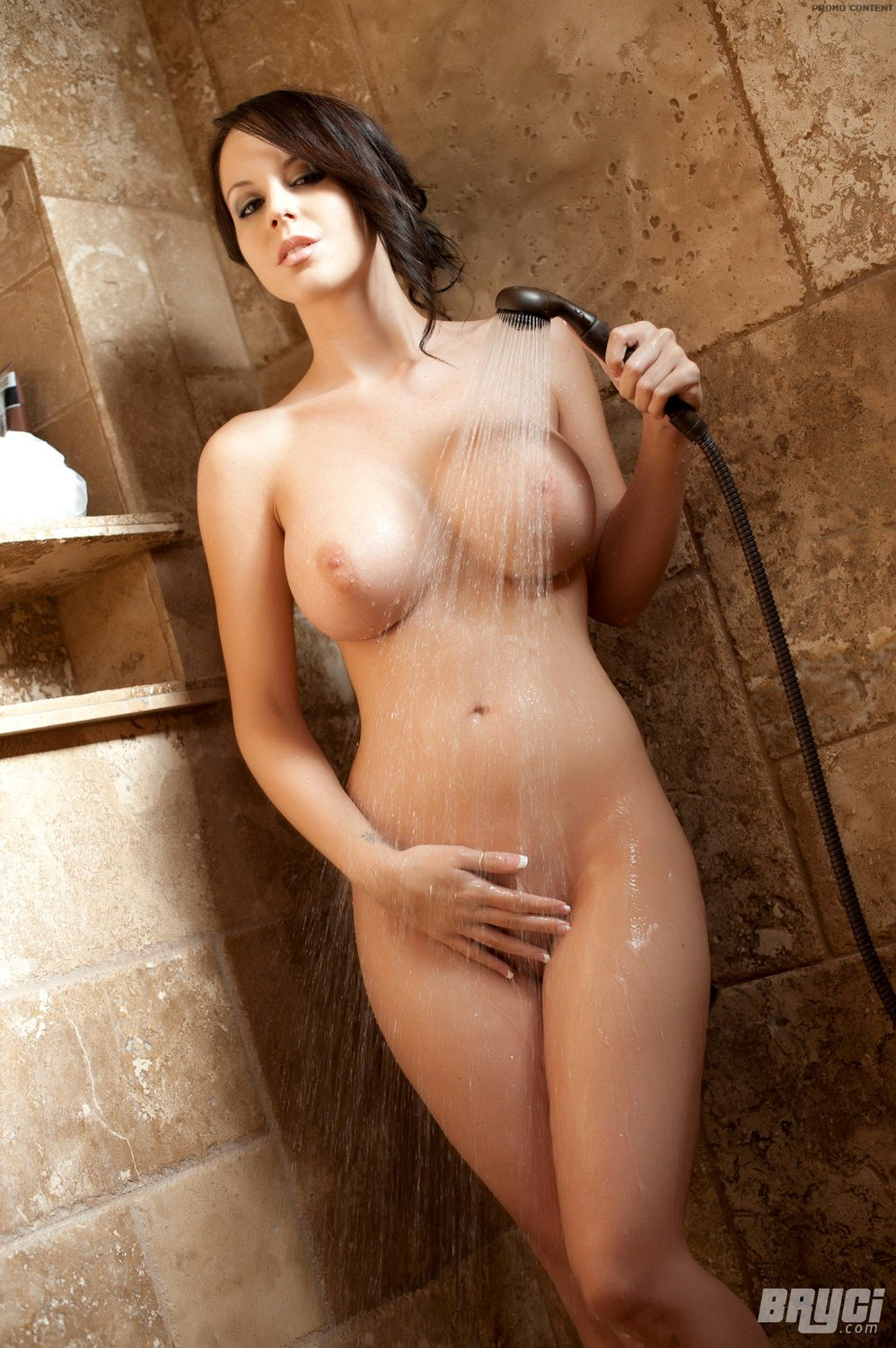 hot naked women in a shower