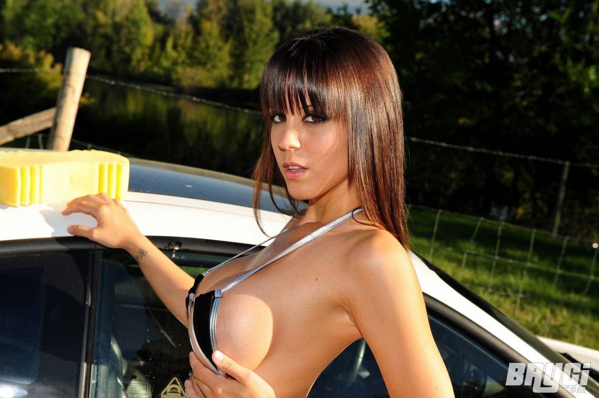 Sexy nude car wash