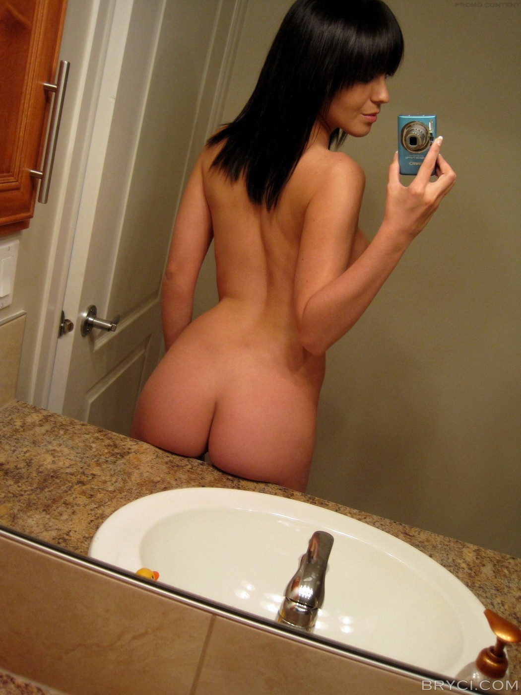 Nude girl mirror shots