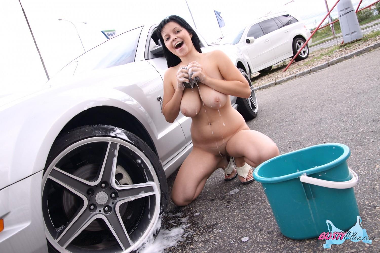 The excellent Busty ellen car wash agree
