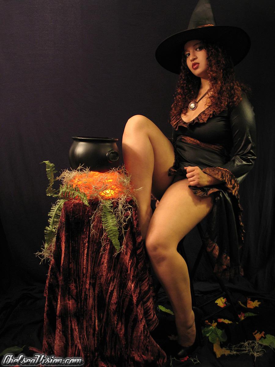 Chelsea Vision - Latina Halloween Fun at AmateurIndex.com