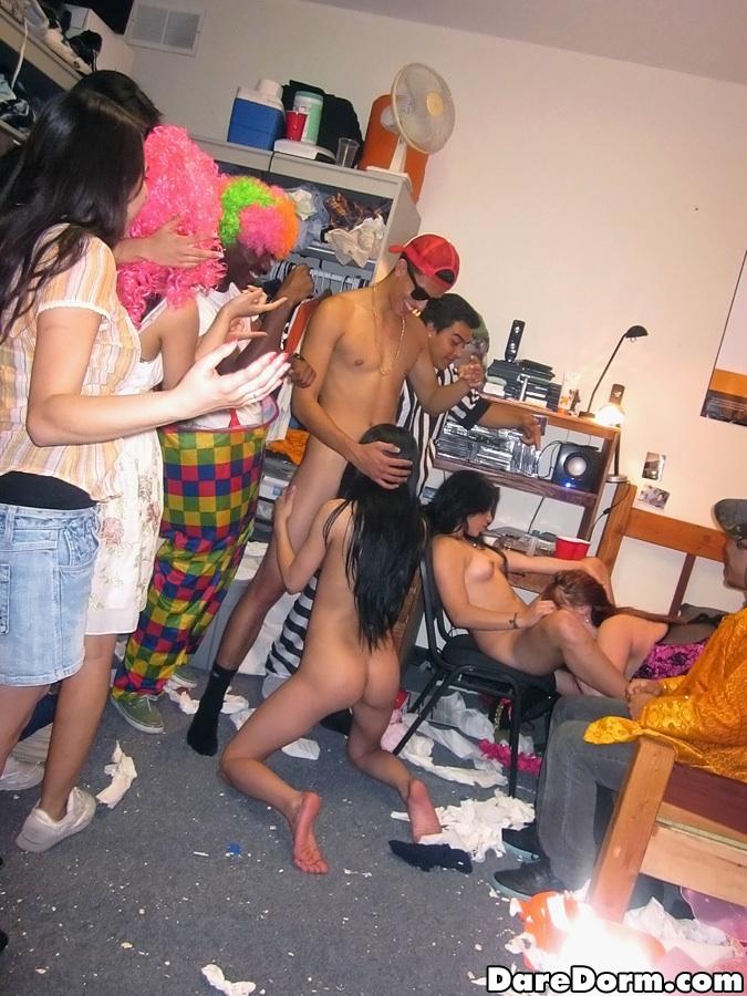 Amateur dorm orgy