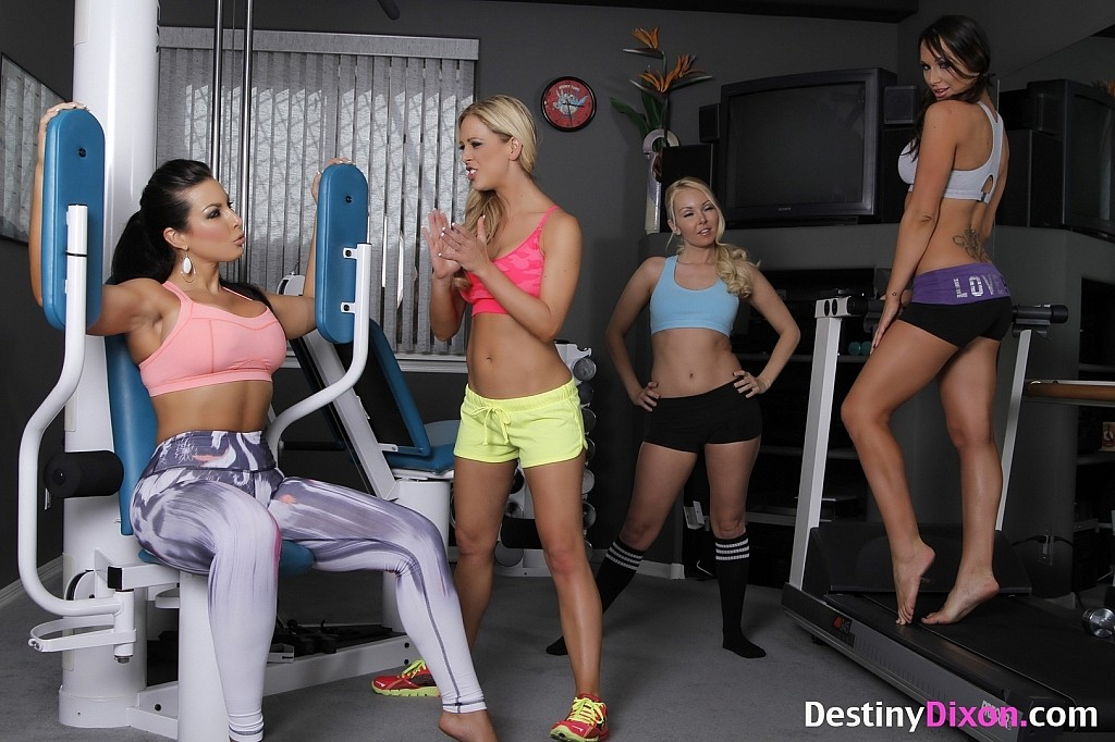Have hit Destiny dixon lesbian workout