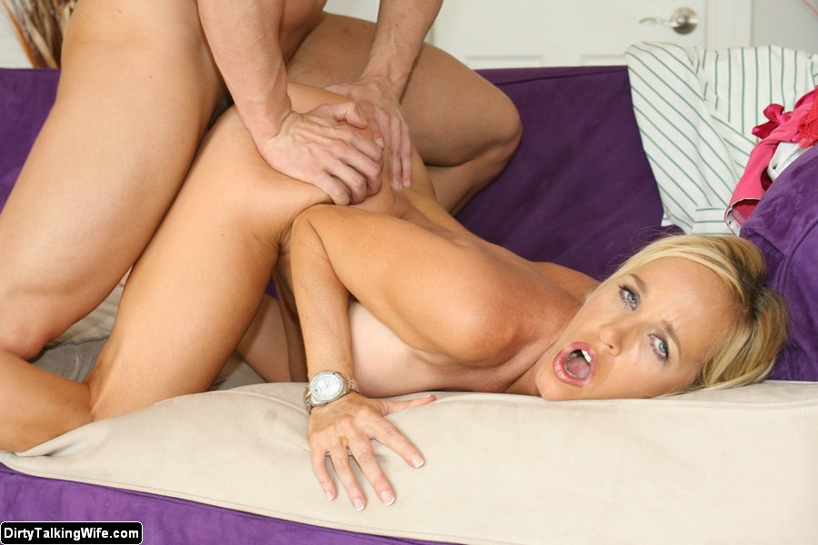 Amateur blonde talks dirty fucked hot 7