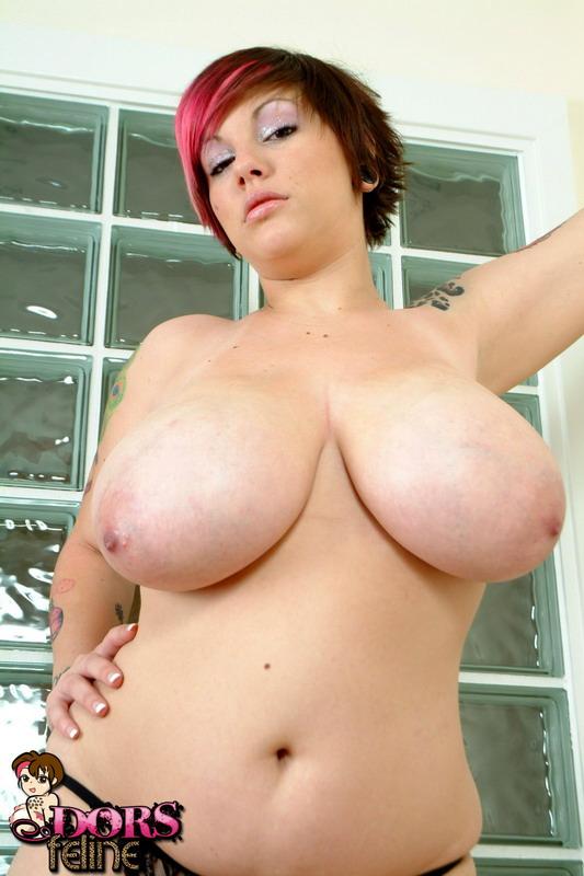 Dors feline tits covered in cum