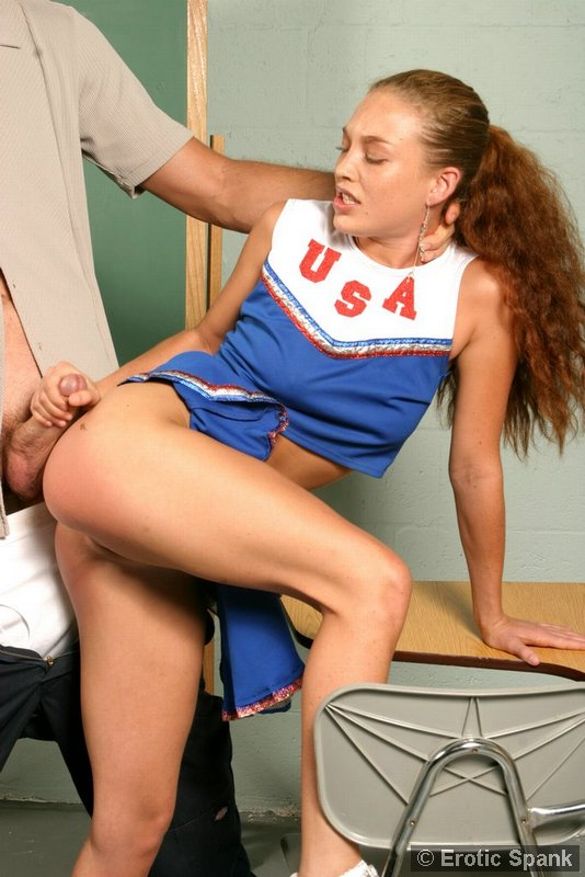 spank the cheerleader