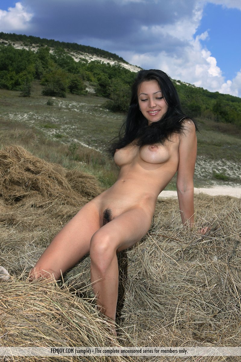 Naked farm girl petra