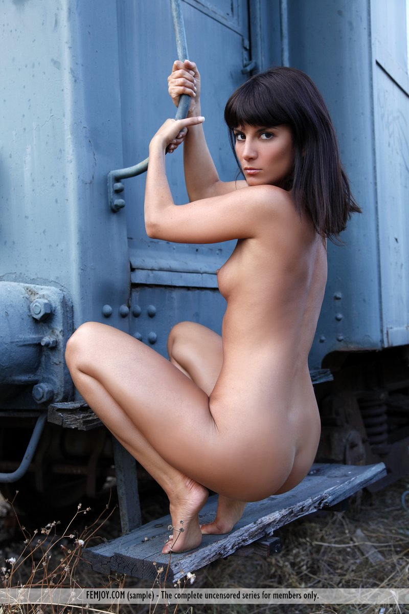 gals naked and fuckin in train