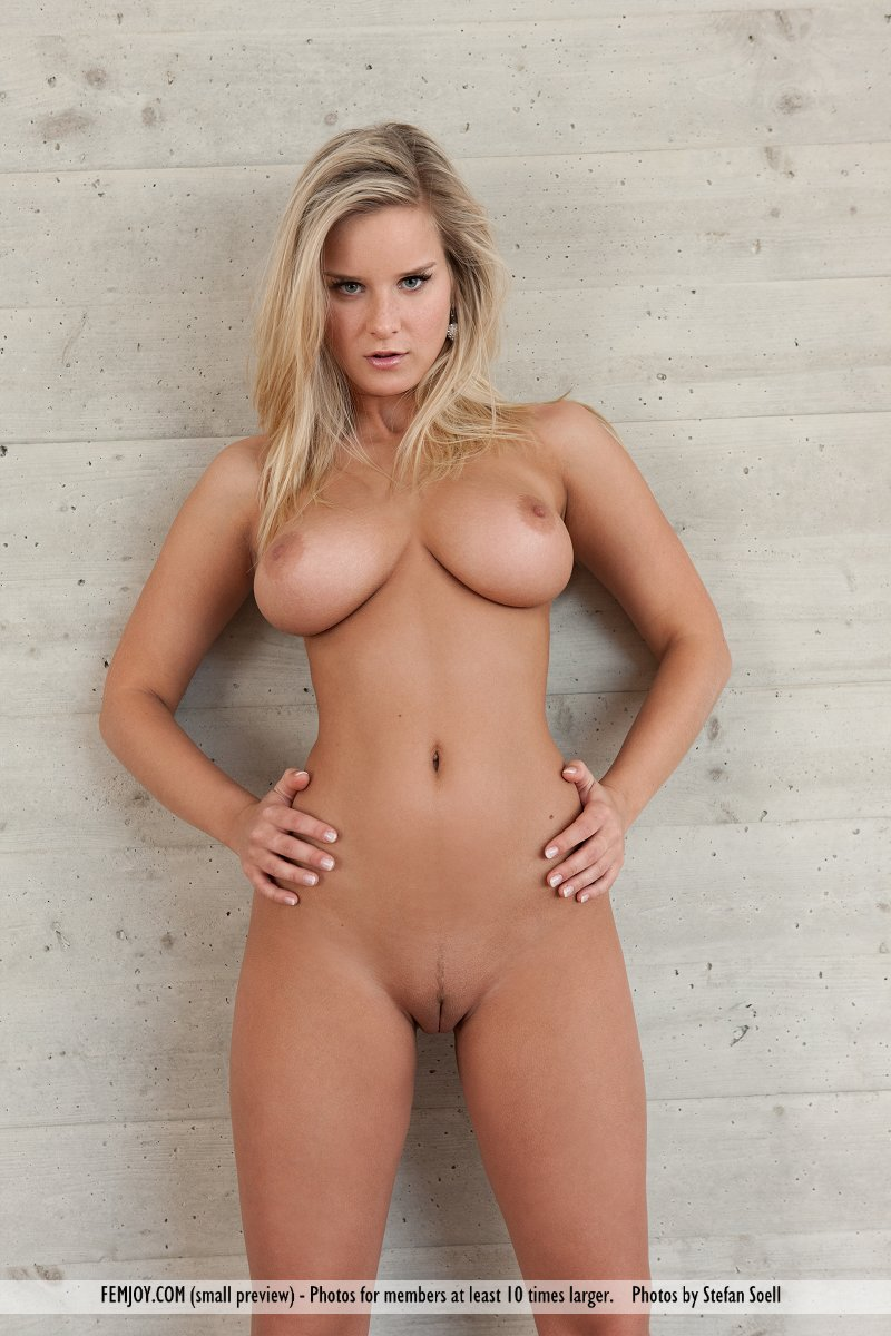 Perfect busty blonde nude