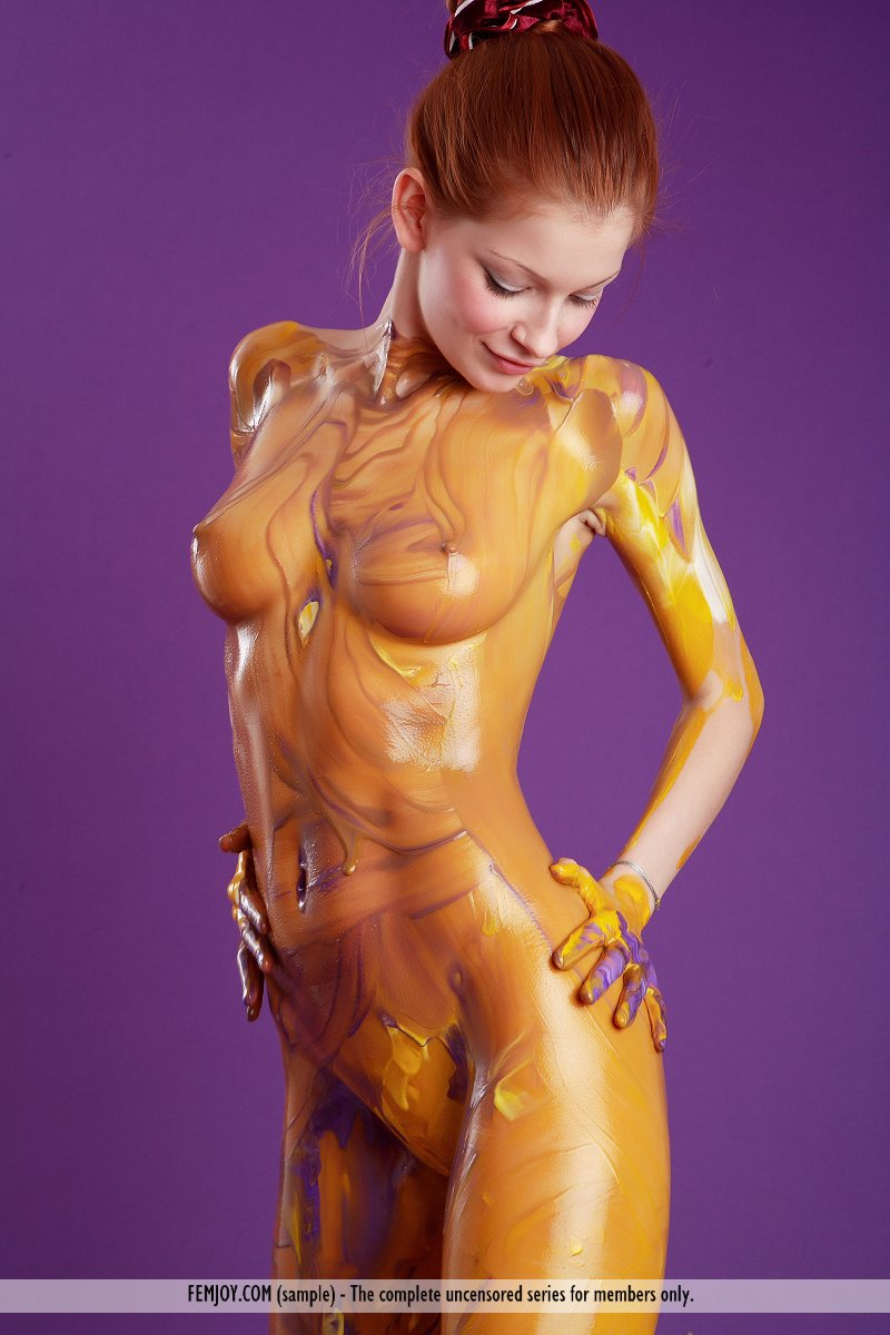 Have sexy body paint porn