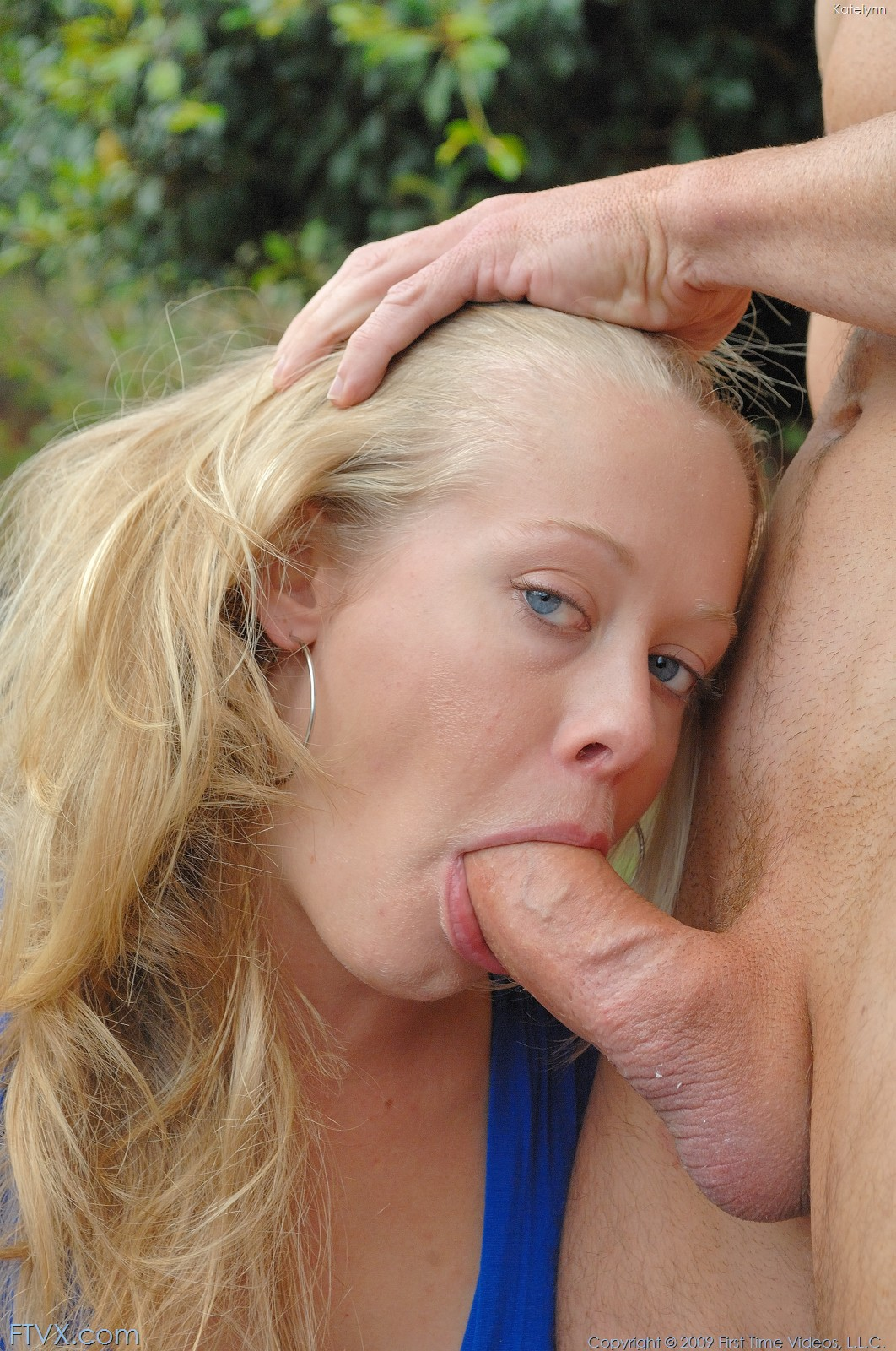 Beautiful blonde sucking my dick