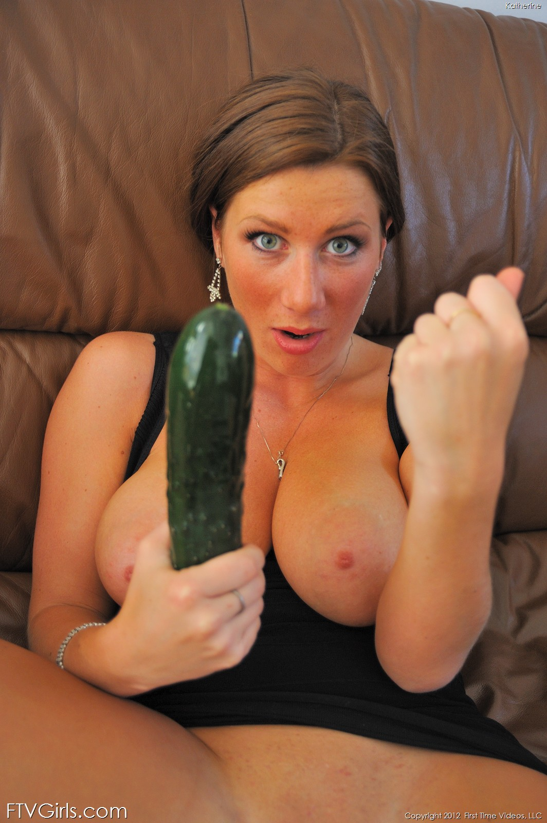 She fucks cucumbers