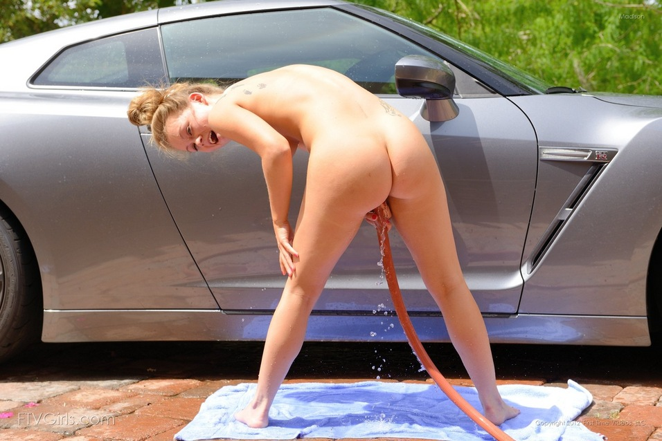 Naked girls car wash
