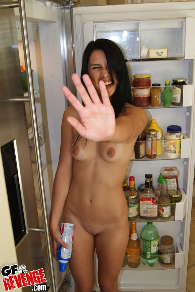 Czech girlfriend kitchen sex