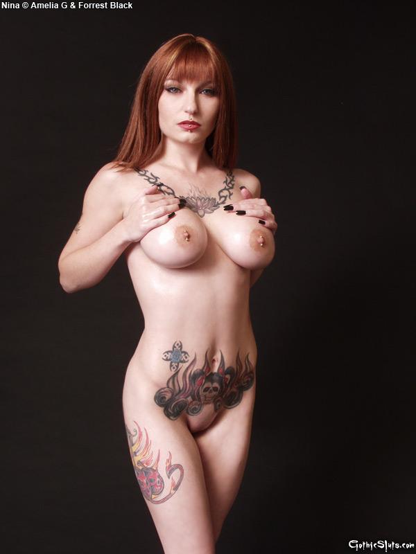 Goth redhead slut