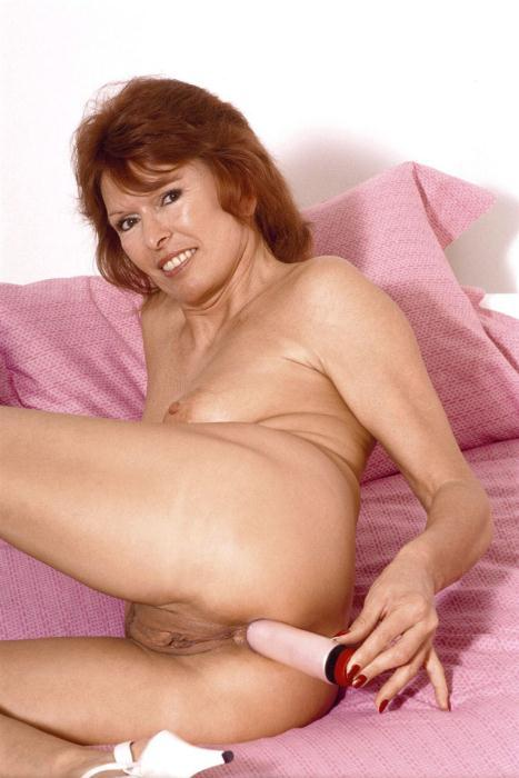Granny Parts - Redhead mature babe masturbates with vibe at AmateurIndex.com