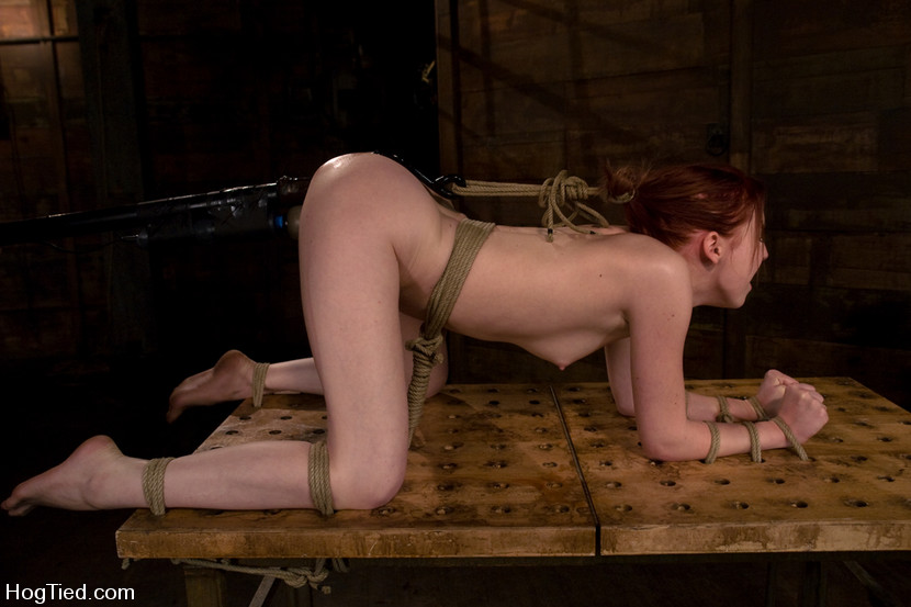 Teens hogtied