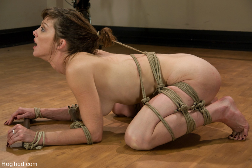 Asian chick hog tied body and