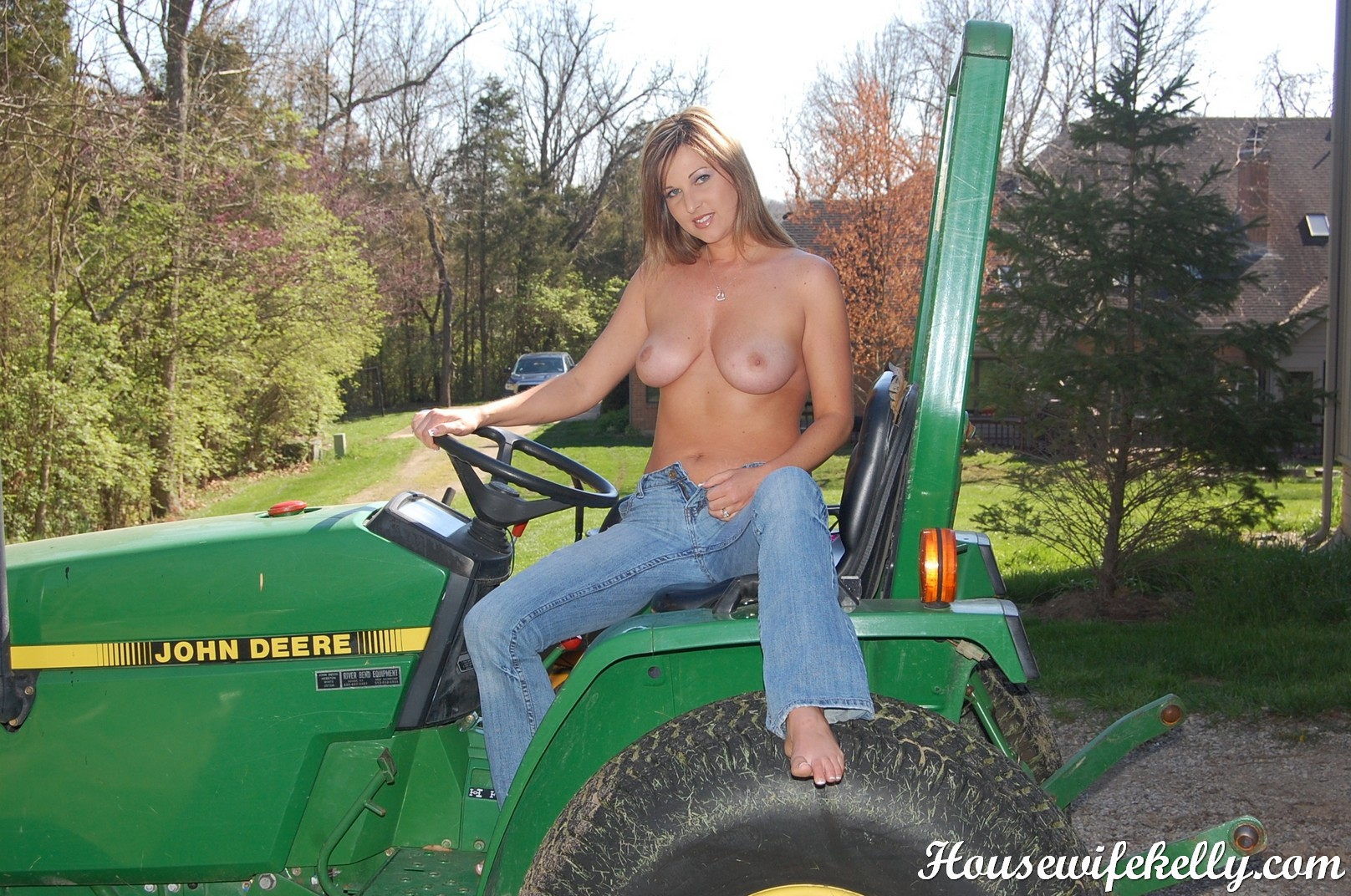 Speaking, would girls naked on a tractor think