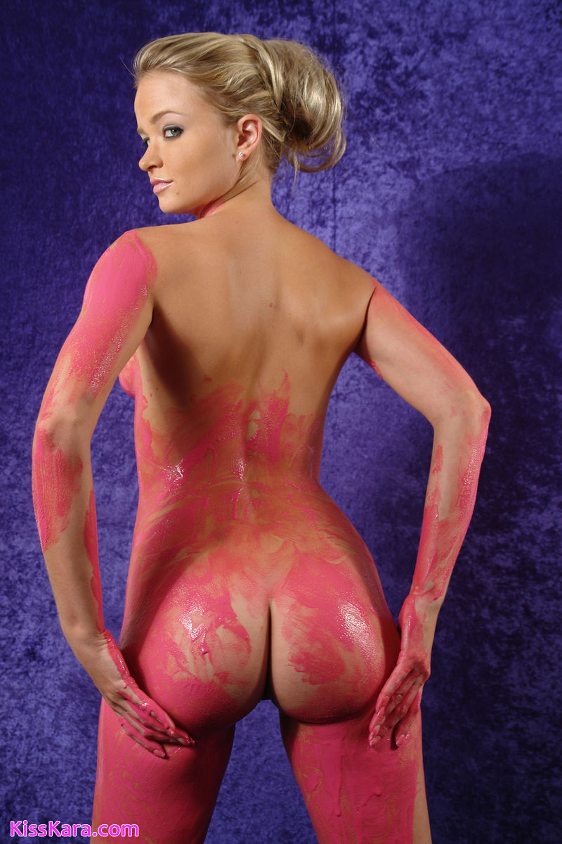 Nudists body paint nude was