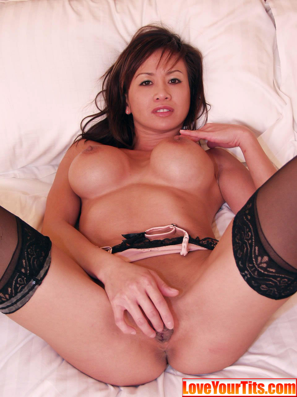 big tit asian blowjobs Hot brunette milf gets her big tits fucked.