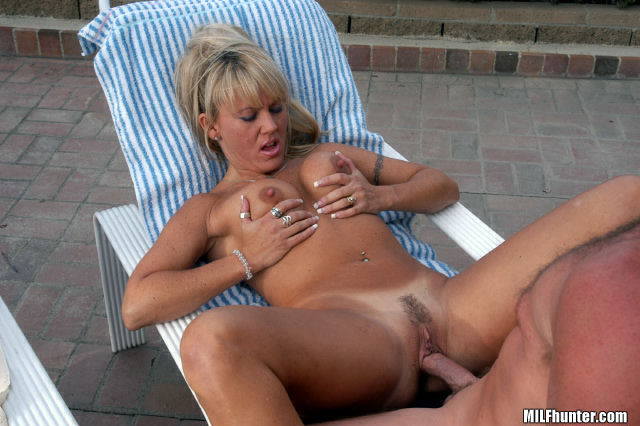 Mature Blonde Gets Hard Fuck