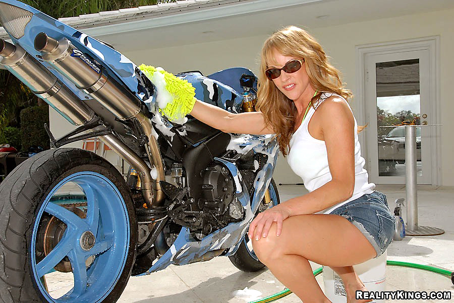Hot milf on motorbikes