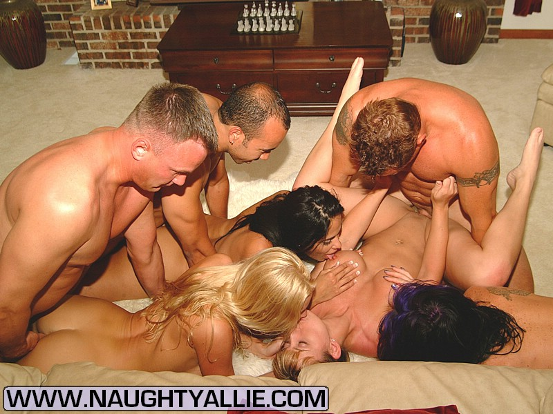 Naughty Amateur Orgy