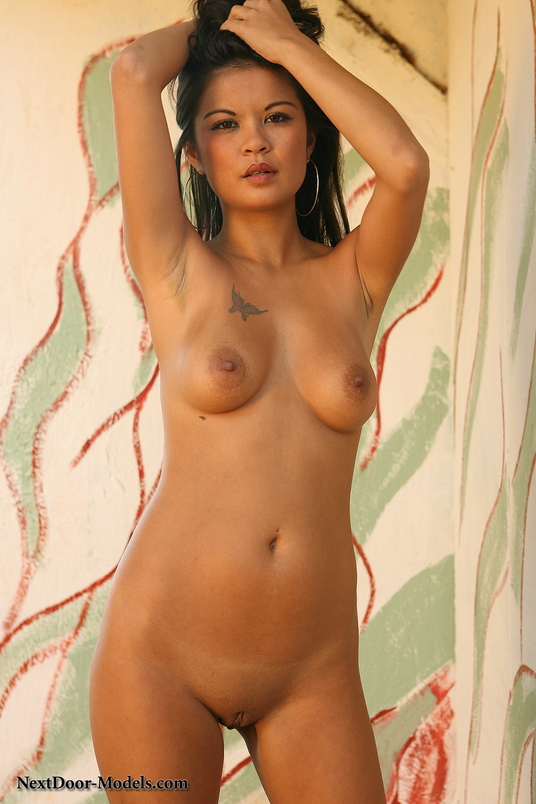 Super model naked lucky