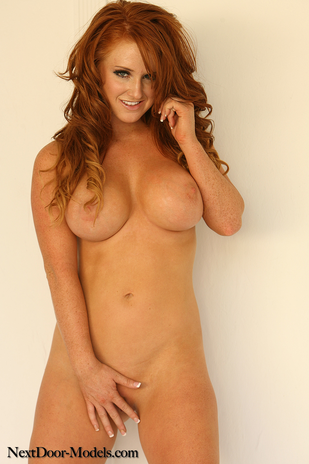 busty red head