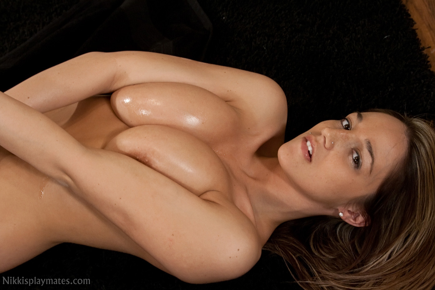 Nikki Sims - Nikki Sims Nude Baby Oil Fun at AmateurIndex.com