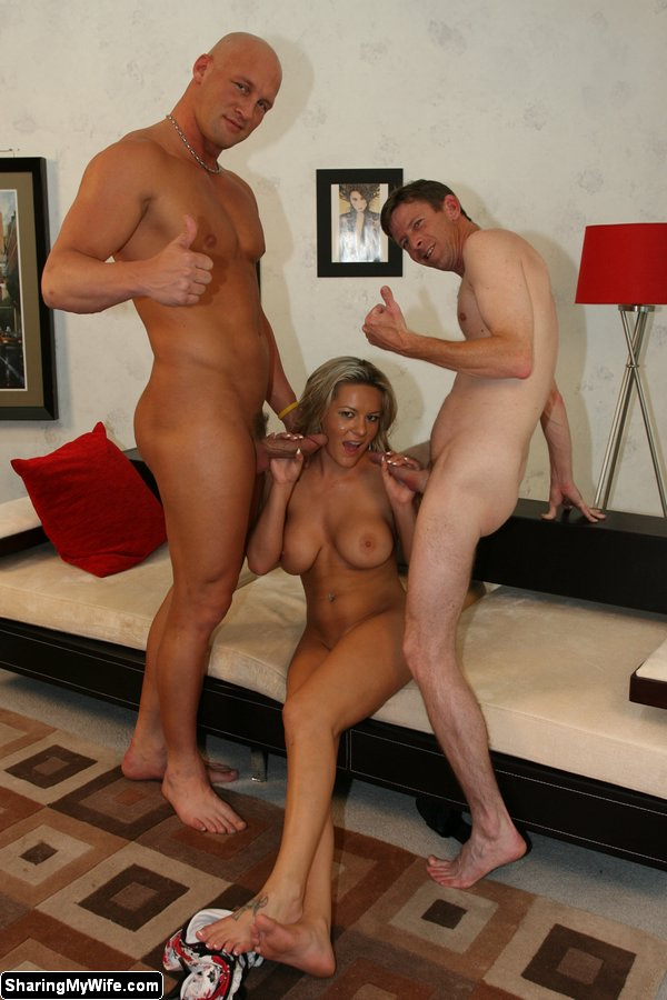 Girl Jerking Off Two Guys