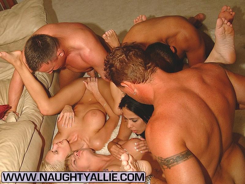 naughty allie orgy